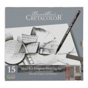 Estojo Cretacolor Silver box Graphife Drawing 15 pç