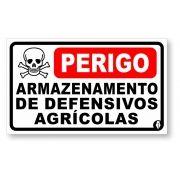Placa Armazenamento Defensivos Agrícolas