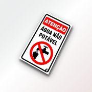 Placa Atenção - Água não potável