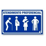 Placa Atendimento Preferencial