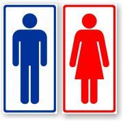 Placa Banheiro - Masculino + Feminino