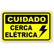 Placa Cuidado Cerca Elétrica