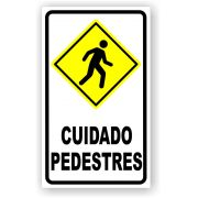 Placa Cuidado Pedestres