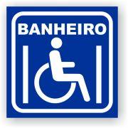 Placa De Sinalização Banheiro Deficiente