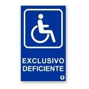 Placa Exclusivo Deficiente
