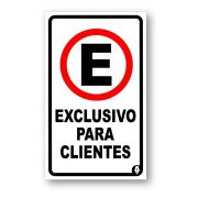 Placa Exclusivo para Clientes