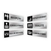 Placa Identificação De Sala Elegance - Vários Modelos