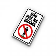 Placa Não Pise na Grama