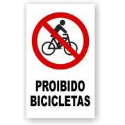 Placa Proibido Bicicletas