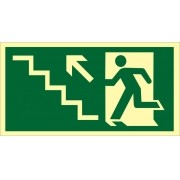 Placa S10 - Saída de Emergência Escada Subindo Dir Fotoluminescente