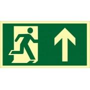 Placa S3 - Saída de Emergência à Cima Fotoluminescente