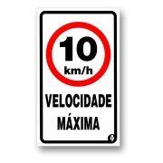 Placa Velocidade Máxima 10 Km/h