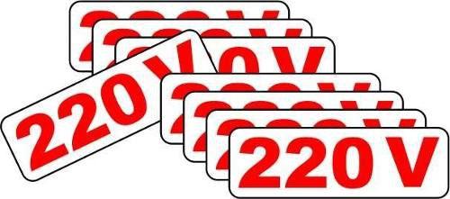 Etiquetas De Voltagem 110v E 220v - Kit Com 5 Conjuntos