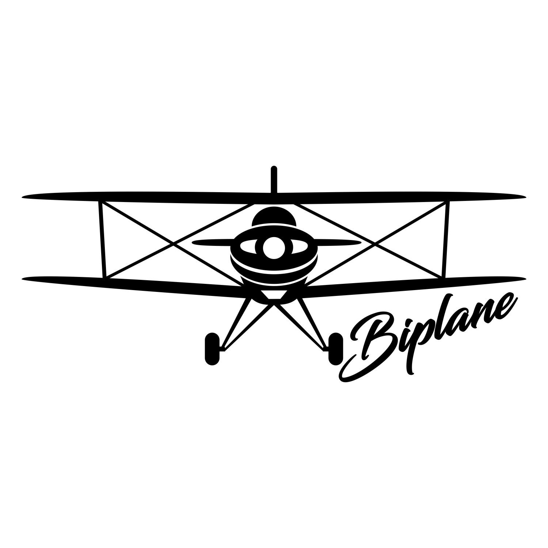Adesivo Aeromodelismo Biplano