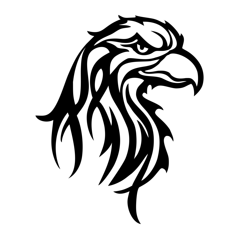 Adesivo Águia Tribal  - Modelo 3