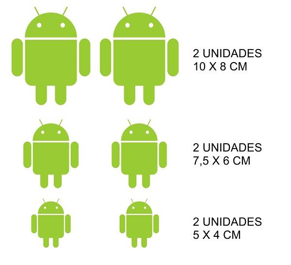 Adesivo Android - 6 unidades
