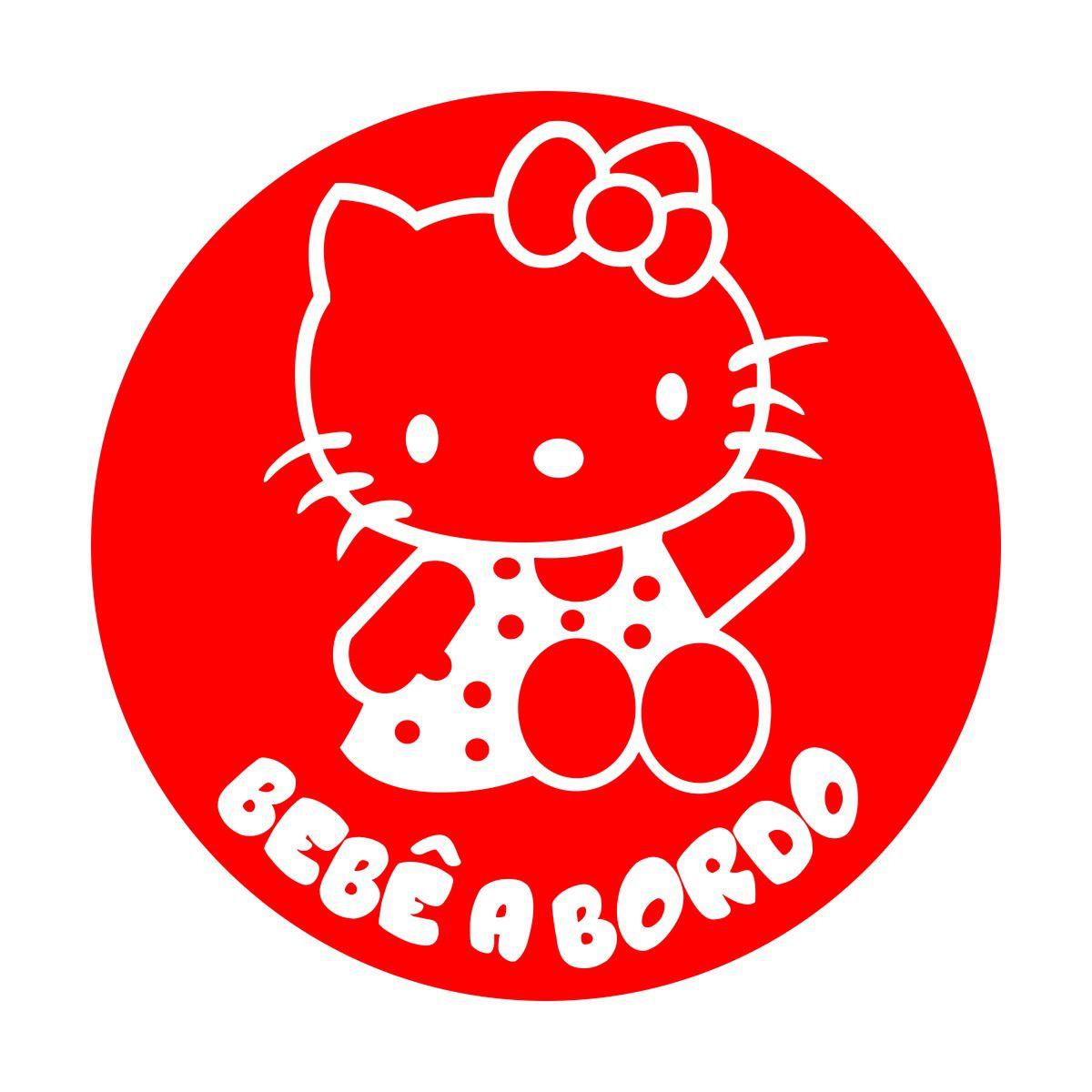 Adesivo Bebê a Bordo - Hello Kitty (mod.1)