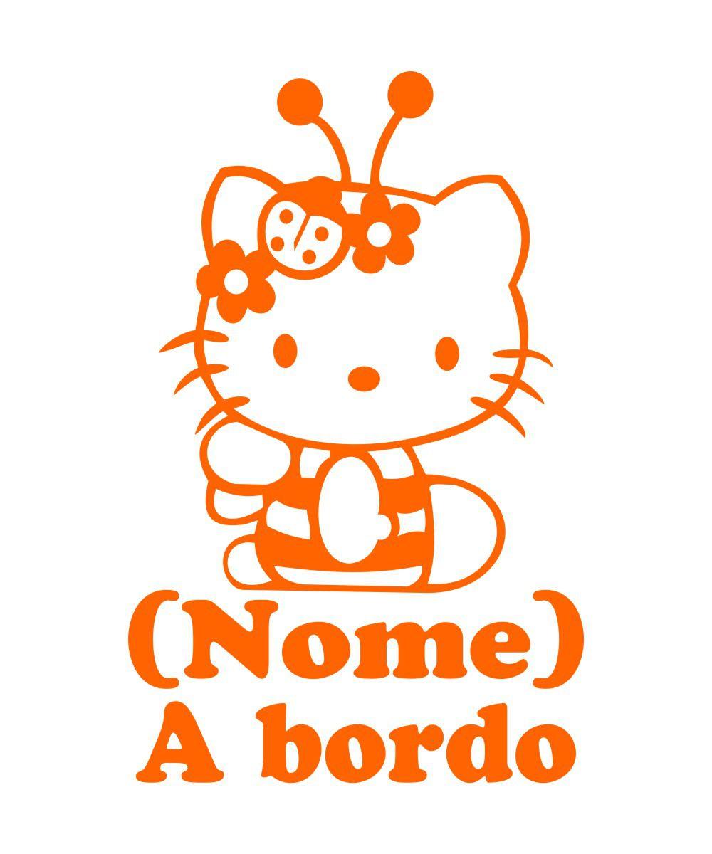 Adesivo Bebê a Bordo - Hello Kitty - Mod.2
