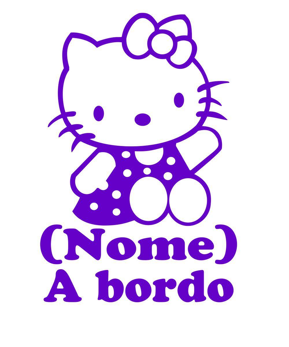 Adesivo Bebê a Bordo - Hello Kitty - Mod.3