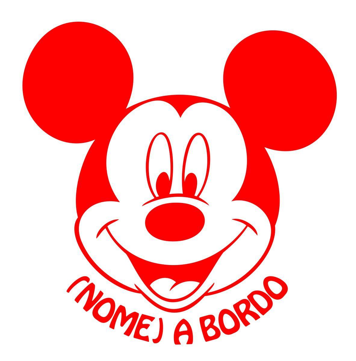 Adesivo Bebê a Bordo - Mickey