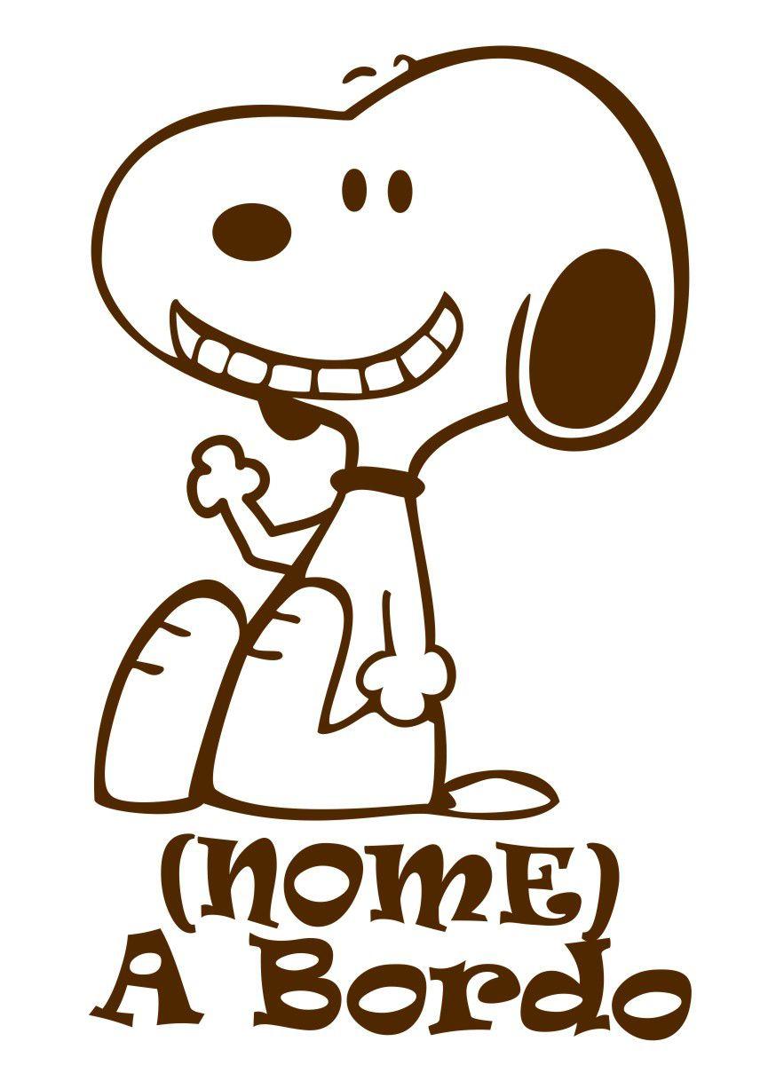 Adesivo Bebê a Bordo - Snoopy - Mod.1