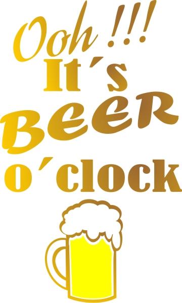 Adesivo Beer O Clock para Quadro Porta Tampinhas