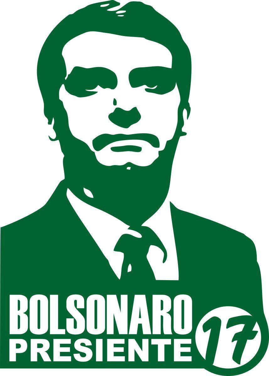 Adesivo Bolsonaro Presidente 17 - Várias Cores