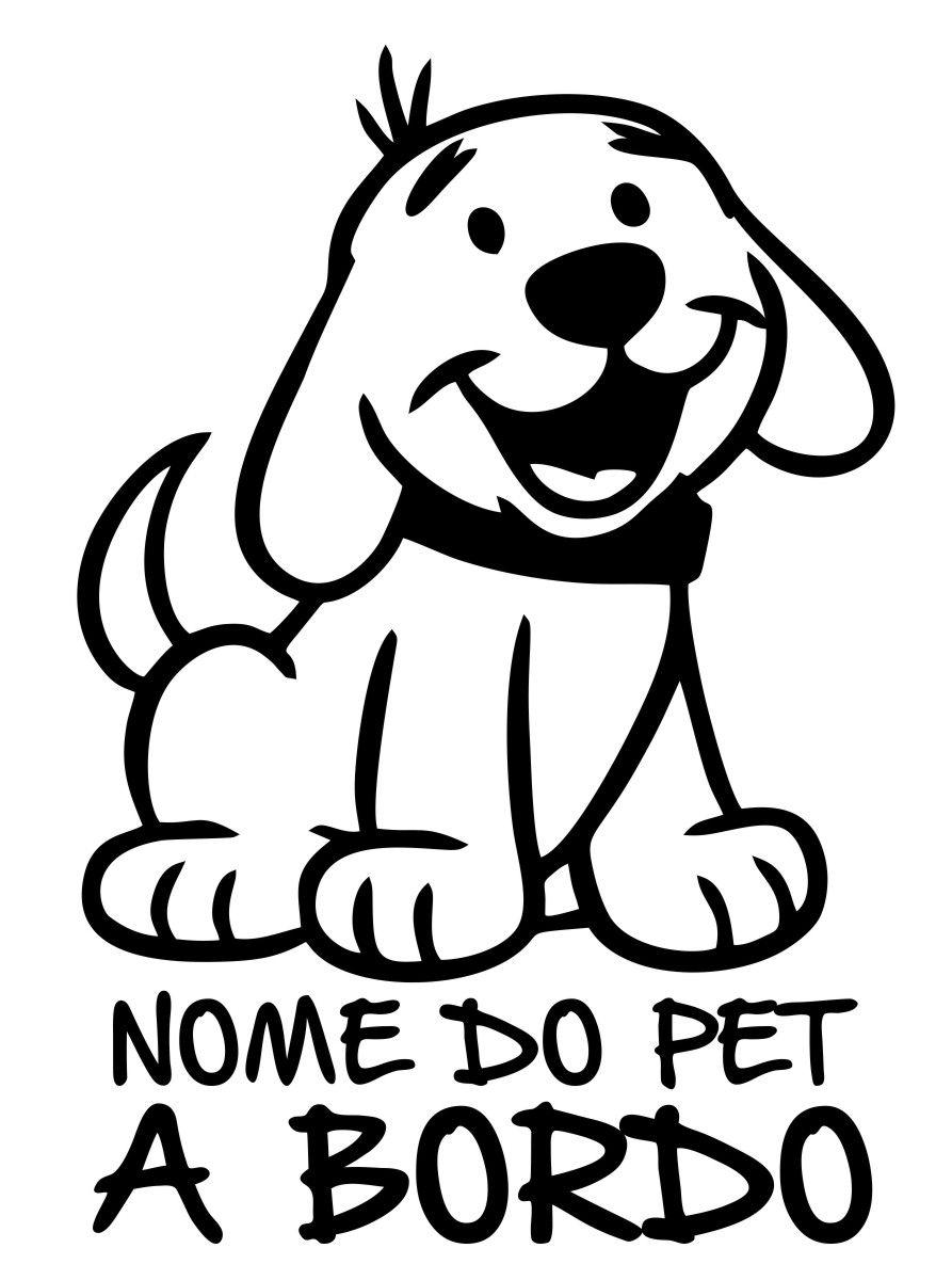 Adesivo Cão a Bordo - Pet  mod1