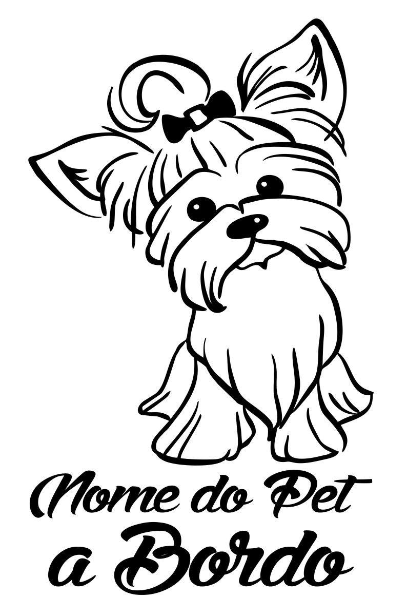 Adesivo Cão a Bordo - Pet  mod2