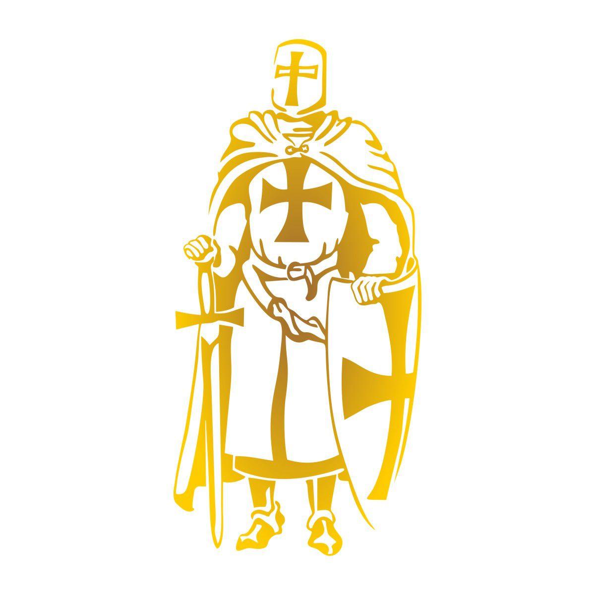 Adesivo Cavaleiro Templário
