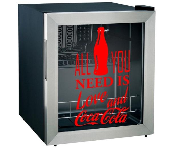 Adesivo Coca-Cola para Porta Tampinhas ou Frigobar