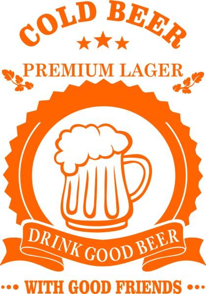 Adesivo Cold Beer para Quadro Porta Tampinhas