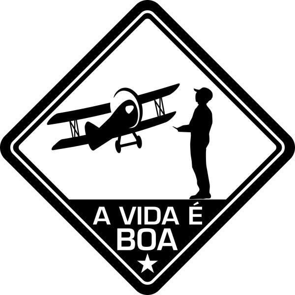 Adesivo Coleção Vinil Studio - A Vida É Boa! Aeromodelo