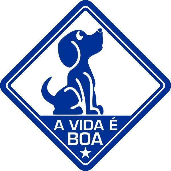 Adesivo Coleção Vinil Studio - A Vida É Boa! Cão