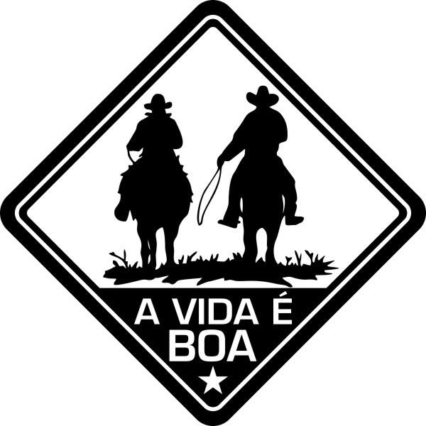 Adesivo Coleção Vinil Studio - A Vida É Boa! Cavalo