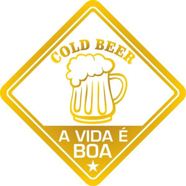 Adesivo Coleção Vinil Studio - A Vida É Boa! Cerveja