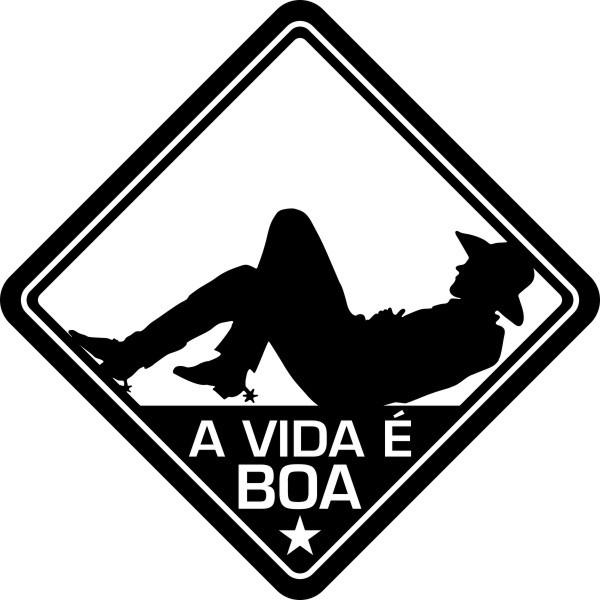 Adesivo Coleção Vinil Studio - A Vida É Boa! Country