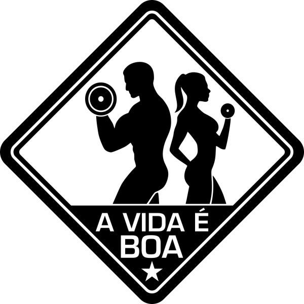 Adesivo Coleção Vinil Studio - A Vida É Boa! Fitness