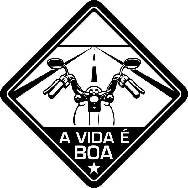 Adesivo Coleção Vinil Studio - A Vida É Boa! Moto