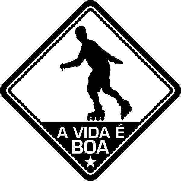 Adesivo Coleção Vinil Studio - A Vida É Boa! Patins