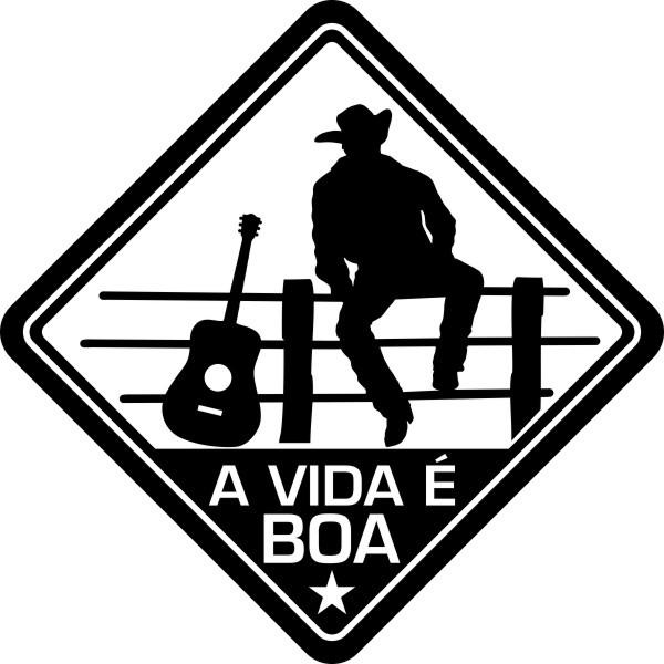 Adesivo Coleção Vinil Studio - A Vida É Boa! Sertanejo