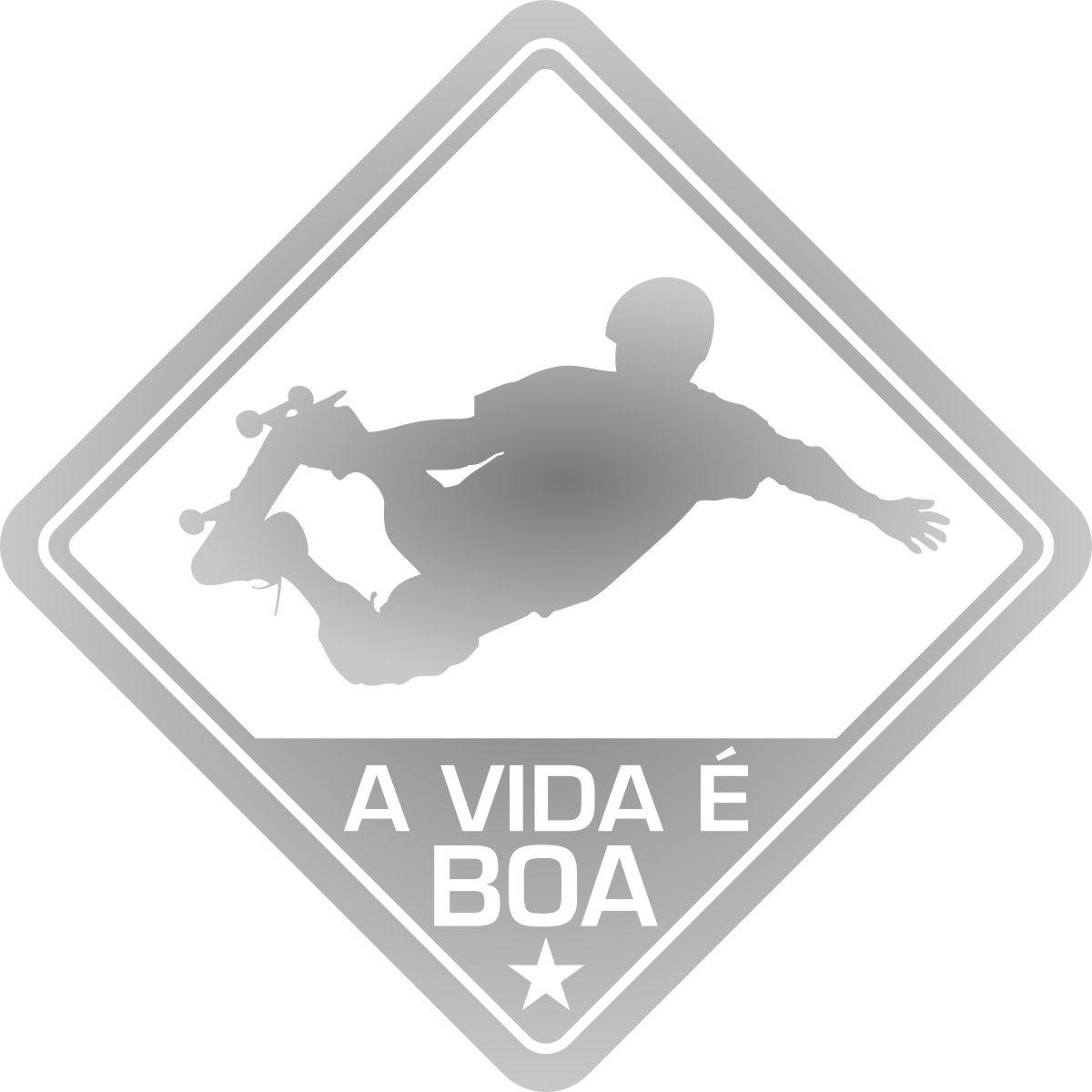 Adesivo Coleção Vinil Studio - A Vida É Boa!  Skate