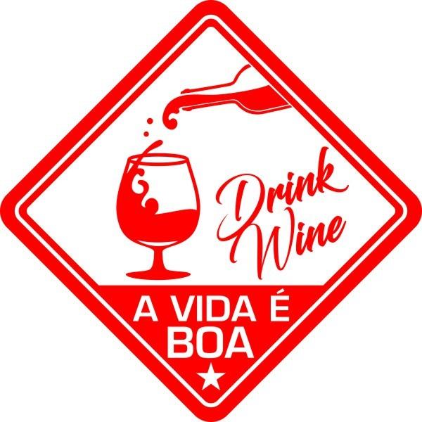 Adesivo Coleção Vinil Studio - A Vida É Boa! Vinho