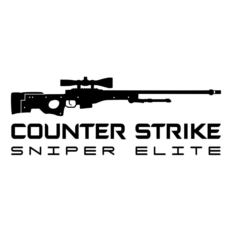 Adesivo Counter Strike - CSGO Sniper Elite