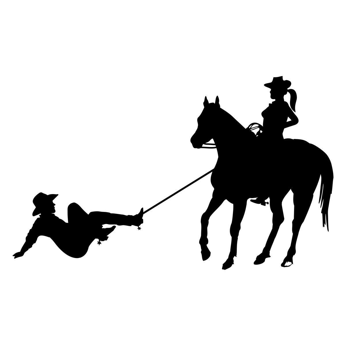 Adesivo Cowgirl bruta no laço