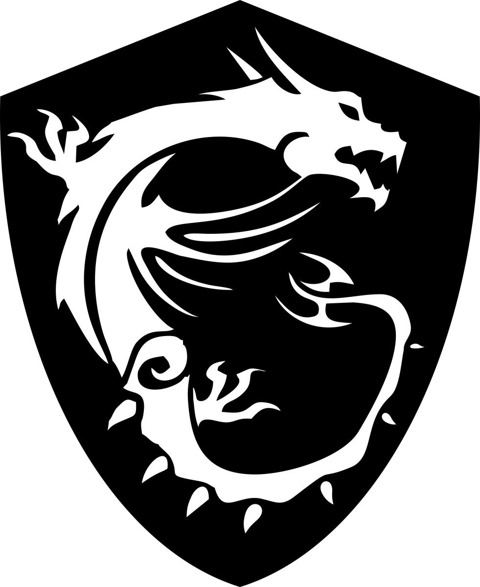 Adesivo Dragão Msi Gaming