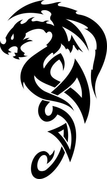 Adesivo Dragão Tribal - Mod 2