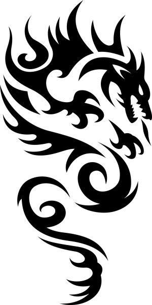 Adesivo Dragão Tribal - Mod 4