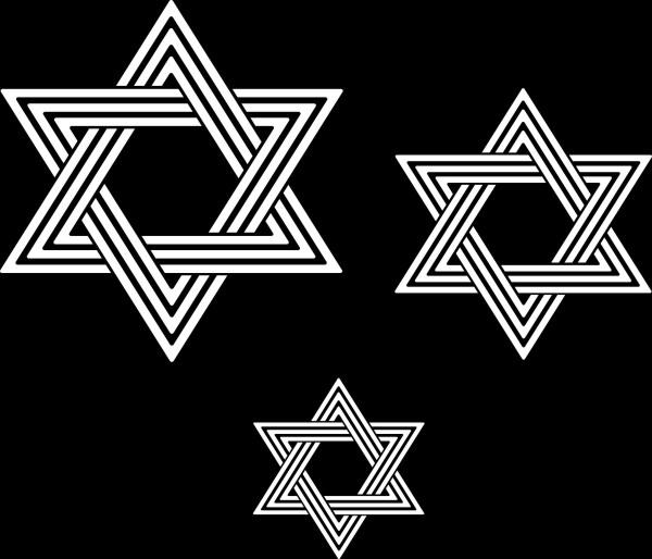 Adesivo Estrela de Davi - 3 unidades