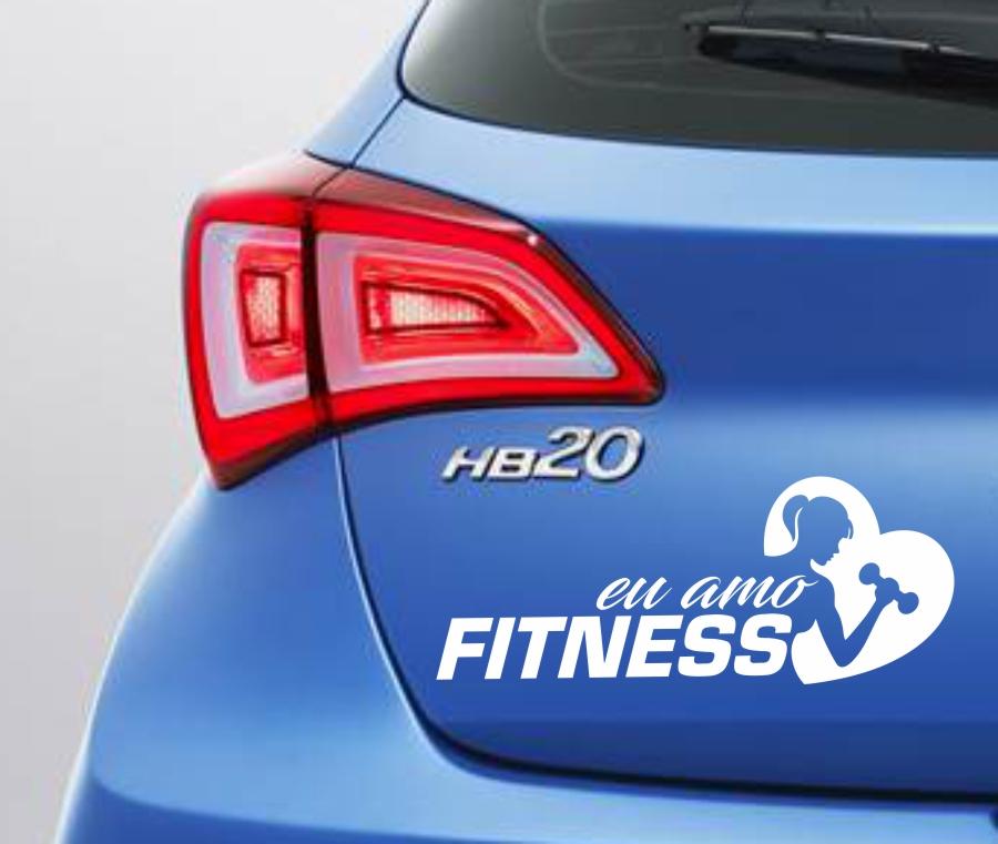 Adesivo Eu Amo Fitness Feminino